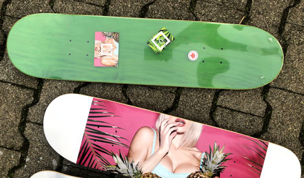 Drip Skateboards Pineapples Deck - Free Grip + Stickers. 7Ply Premium Canadian Maple Skateboard Decks. DRIP Skateboard Company Europe