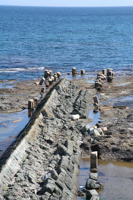 北前船で賑わった福山埠頭跡