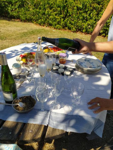 Pique-nique champêtre au jardin pastelier de Puylaurens en Pays de Cocagne
