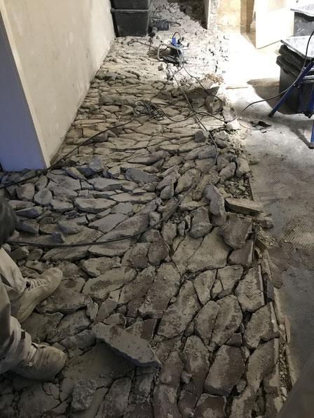 Ausbruch Boden für barrierefreies , niveaugleiches , modernes Wohnen