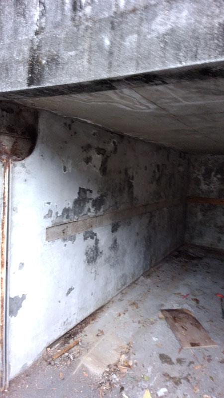 車庫解体後の写真