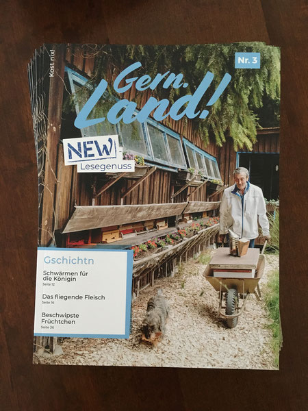 """""""Schwärmen für die Königin"""" - Wir haben es auf der Titelseite des Regionalmagazins """"Gern. Land!"""" geschafft! Hier geht's zum Artikel."""