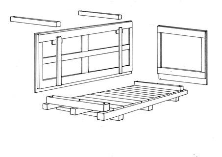 Maschinenkiste mit Bodenrand und Deckelstützen, 4-seitig unterfahrbar