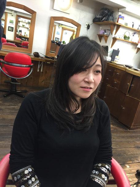 横浜・美容室☆女性の笑顔を作る専門家☆美容家 奥条勇紀 デジパーと短め前髪編