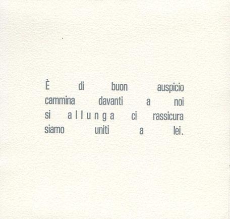 pagina di testo stampata tipograficamente in grigio
