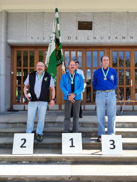 2ème Giroud Martial (Bouillet-Frenières-Bex), 1er Mermod Claude (Baulmes Misterdam), 3ème Chappuis Nicolas (Froideville TS)