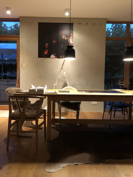 dieartigeBLOG - Esszimmer //  Entstehung Wandgestaltung / Wanddekoration mit IXXIyourworld // diningroom, walldecor