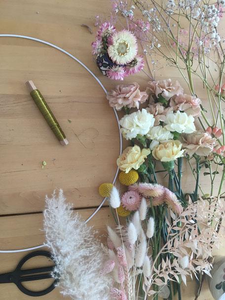 Blumenkranz, Blumenkränze, Flowerwallhangings, Flowers, Kranz, Blumen, Blumen binden
