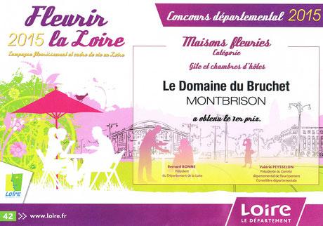 1er prix Concours maisons fleuries Loire