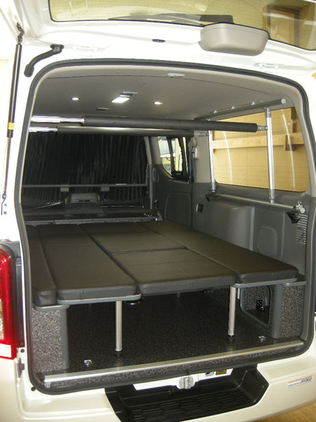 NV350キャラバンで車中泊するならOSPのライトキャンパーがオススメ!