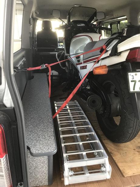 NV350でバイク用トランポを作りましょう!