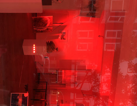 Corona - Auswirkungen Kunst, rot
