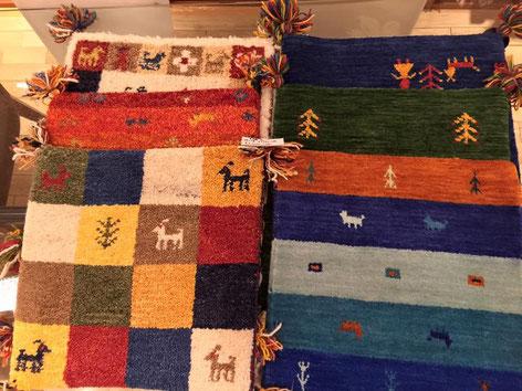 大人気の手織りギャベ