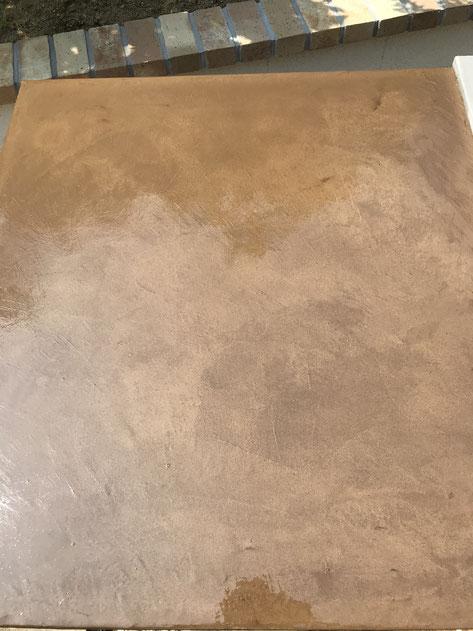 モールテックス天板のガーデンキッチン