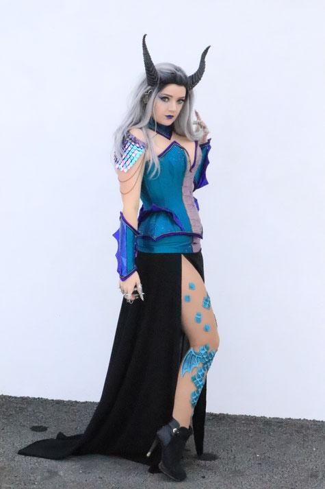 costume dragon corset couture