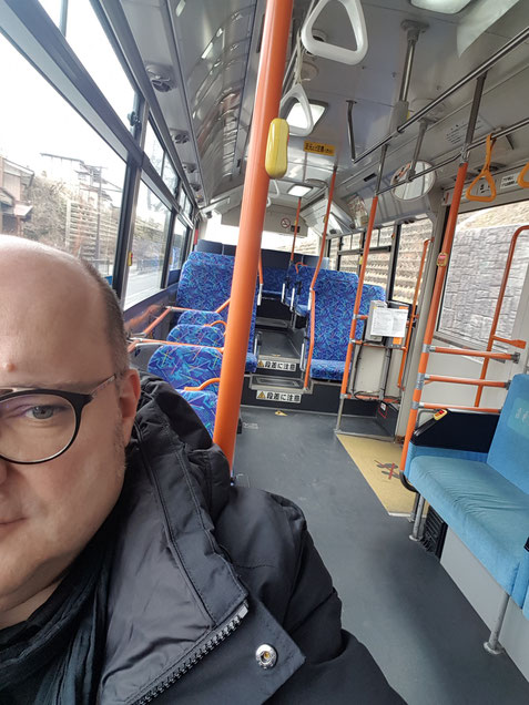 Alone in the bus