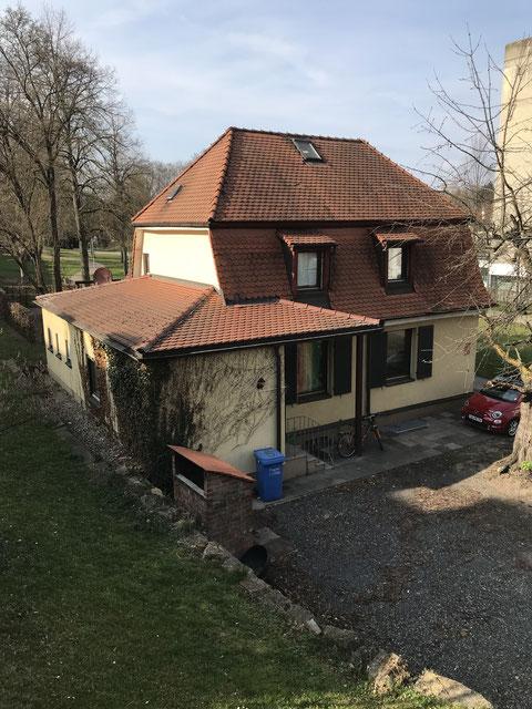 Das Pferdebahnhaus heute (2019) am Rückertzentrum