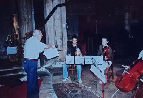 György Kurtág et le jeune quatuor Ebène, Cordes-sur-Ciel 2005
