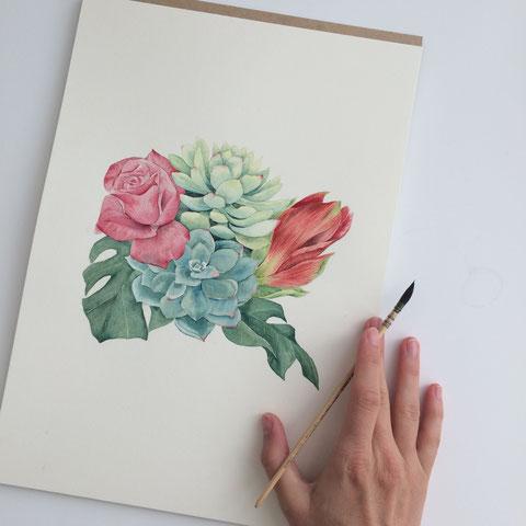 florale aquarelle, aquarell workshop berlin, aquarellworkshop berlin, watercolor workshop berlin, malen lernen berlin, loose watercolor