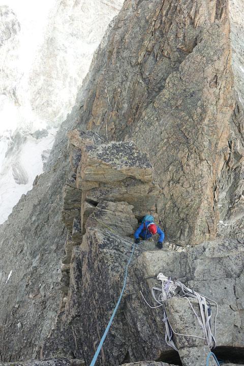 Schönbielhütte, Pointe de Zinal, Überschreitung, Hohwänggletscher, Matterhorn, Monterosa, Bergsteigen, Wandern, Wallis, Zermatt, Obergabelhorn, Zinalrothorn, Weisshorn