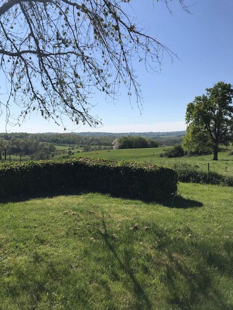 Uitzicht vanuit de tuin.....