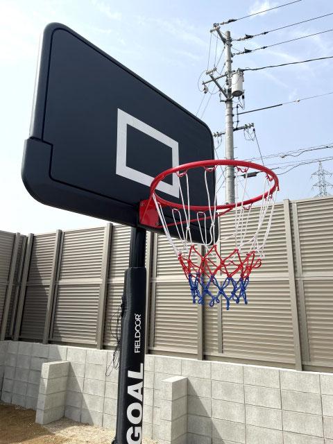 バスケットボールコート ブロック・フェンス工事