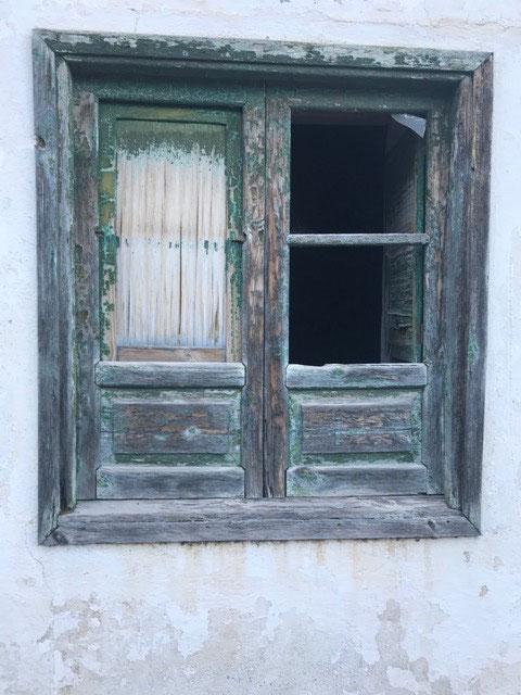 ein typisches altes kanarisches Fenster