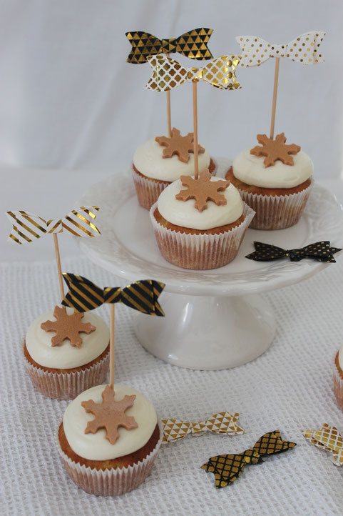 Apfel Marzipan Cupcakes Apple Muffins Frosting Hinwil Torten Cakes Winter