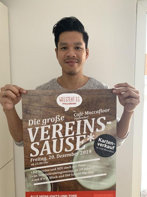 Foto: Hoan Luu, Organisator der 5. Vereinssause in Pfullendorf.