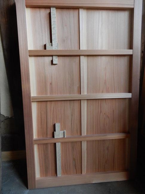 古民家再生 木製建具 雨戸 猿鍵