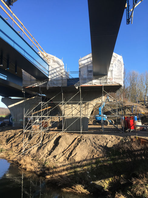 Autobahnbrücke A30 Löhne Wetterschutzeinhausung für Schweißarbeiten