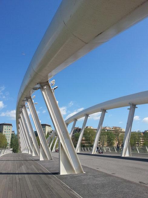 Passeggiatina al sole sul ponte della Musica, tra foro Italico e quartiere Flaminio