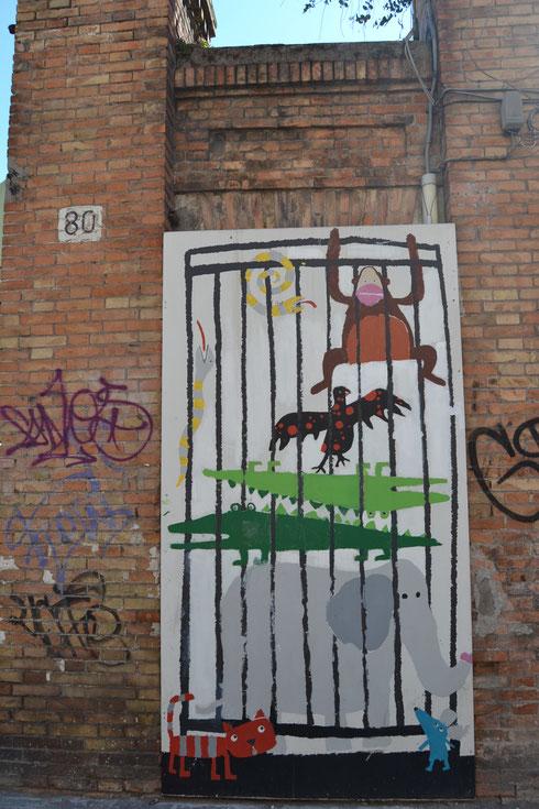 Avete presente il murales in stile portoghese della scorsa settimana? Beh, siamo ancora su via Flaminia, solo qualche metro più in là...