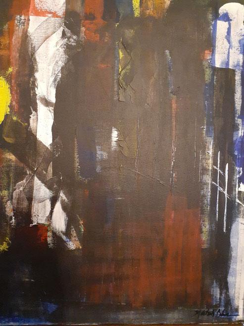 "2019 C502 Obsidia Acrylic on Canvas  June 2018  20.00"" H x 16.00"" W  | Sold"