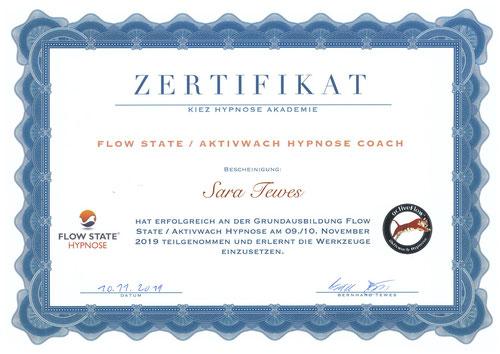 Flow State Sara Tewes Aktivwach Hypnose