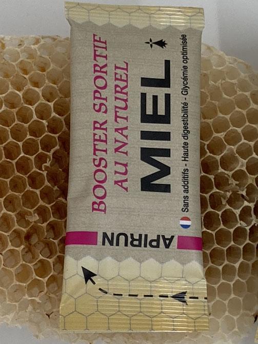 Sticks de miel breton de 20g, APIRUN, booster sportif au naturel
