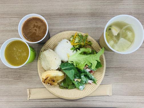 朝ベジという野菜を中心とした朝ごはんが食べられるイベント。健康的で美味しい朝ごはんが食べられるので社員にも好評でした