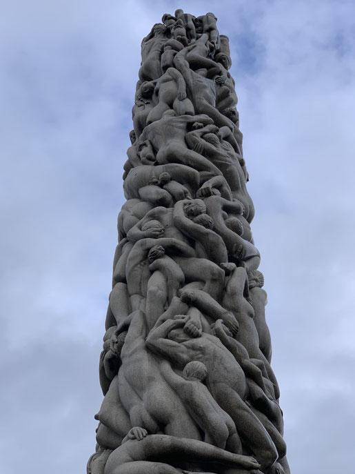 Norwegen, Oslo, Frognerpark, Vigeland Park, Skulpturen, Kunst, Bronze