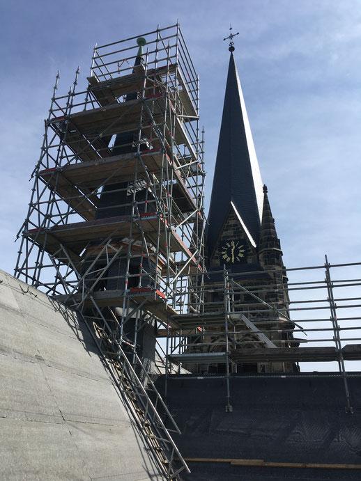 zweiter Bauabschnitt Hauptschiff und Mittelturm