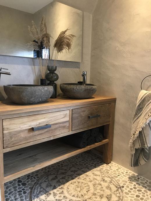 Badkamer betonlook - Beton cire Nederland