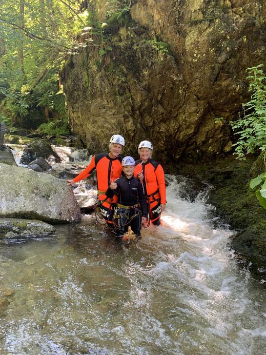 Canyoning Einsteiger Haiming Rafting Ötztal Fanky Sport Wasser Natur Familien Gruppen Aktivität
