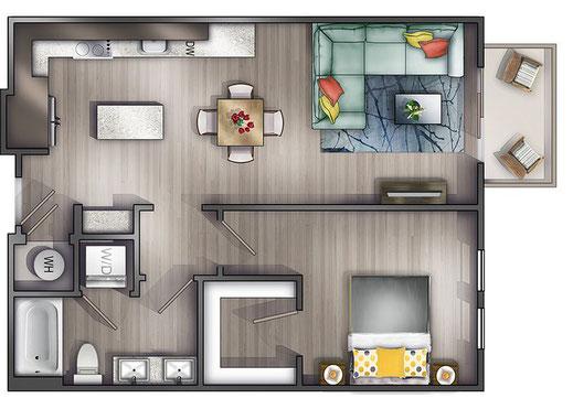 Muebles para apartamentos, mobiliario para apartamentos. Fabricacion de mobiliario para apartamentos, diseño exclusivo, materiales de calidad.