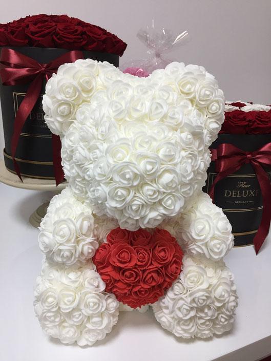 flowerbear, rosebear