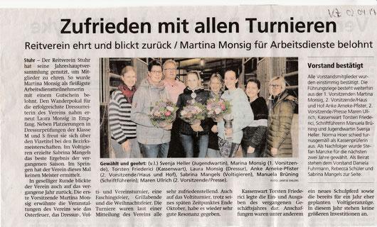 Artikel Kreiszeitung vom 02.04.2019