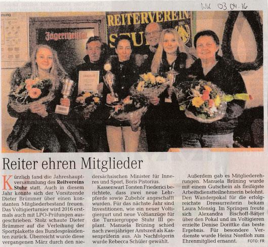 Artikel Weser-Kurier 03.04.16