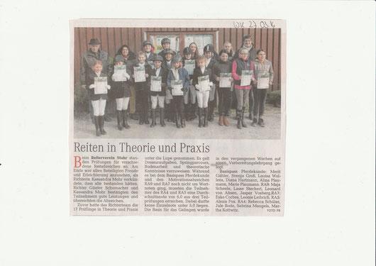 Artikel Weser-Kurier 27.03.2016