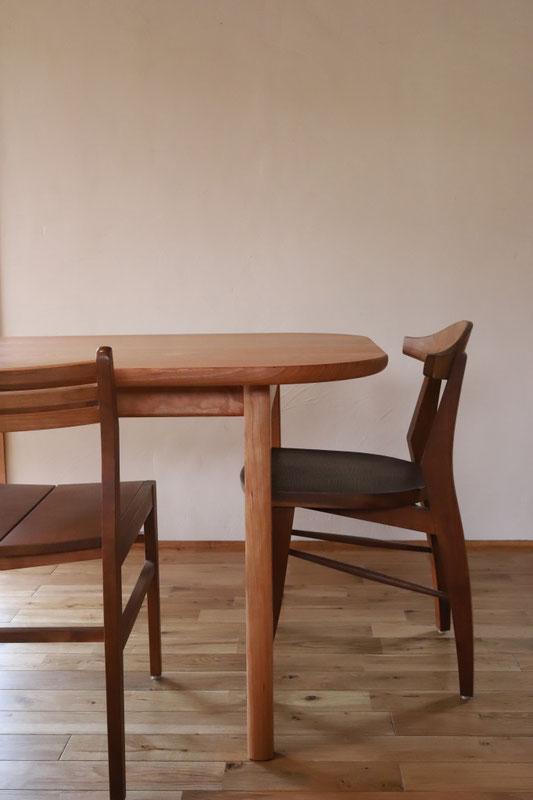 ブラックチェリーテーブル 無垢テーブル ダイニングテーブル テーブル