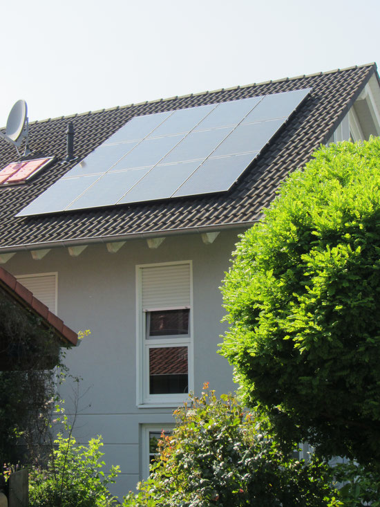 Grid-connected solar system with charging station for electric vehicle (3,6 kWp) / Germany