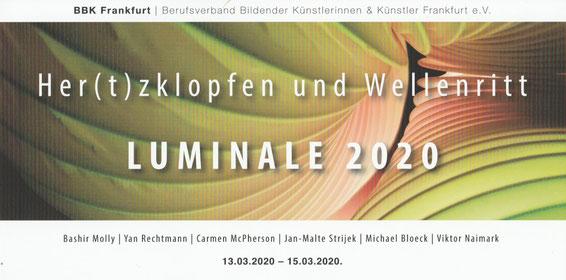 Luminale 2020, Jan-Malte Strijek, Lichtkunst, BBK, Frankfurt.