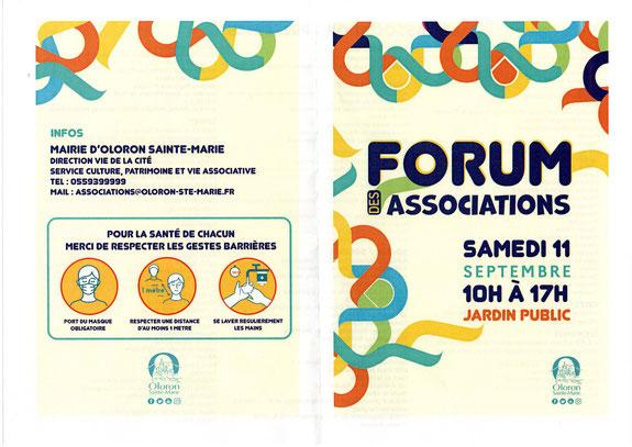 Forum des assoc à Oloron le 11 septembre 2021 avec l'association ACCOB- Défense environnement